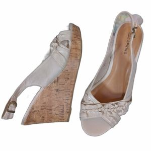 Call It Spring Wedge Open Toe Sandals Size 7
